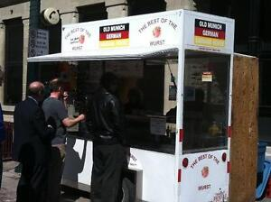 Calgary' Land Mark Old Munich German Sausage House Hot Dog Cart