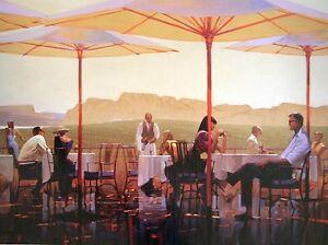 Brent Lynch: Winery Terrace Fertig-Bild 60x80 Weingut Terrasse