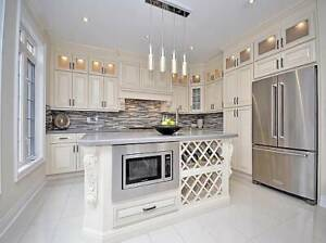 WOW!  SOLID MAPLE WOOD KITCHEN CABINET!
