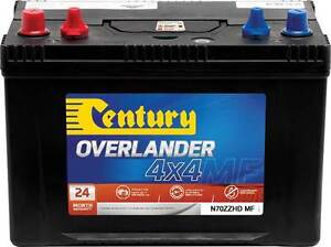 CENTURY N70ZZHDMF SUPER HEAVY DUTY 4WD BATTERY DUAL PURPOSE 720 C Windsor Hawkesbury Area Preview
