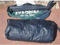 EUROHIKE 225 TS DOME TENT - 2 MAN - GREEN - CAMPING - SLEEPOVER - FESTIVAL