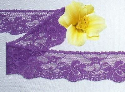 "Purple Vintage Lace Trim 10 Yds x 1-1/2"" CLOSEOUT O75HV Added Trims ShipFree"