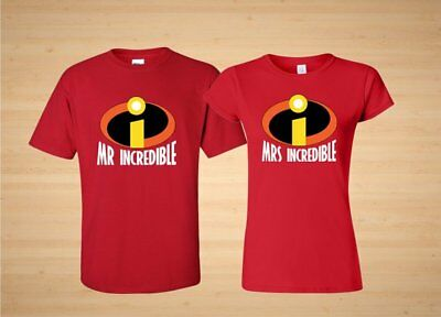 Mr Incredible Mrs. Incredible Halloween couple matching cute TShirt - Cute Halloween Couples