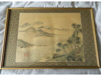 CHINESE PAINTING - stunning signed original antique painting on silk - early 20th Century
