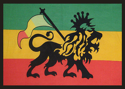 Rasta Lion Flag Tapestry-60 X 90-bedspread-wallhanging-marley-irie
