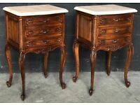 Superb Pair French Bedside Chests or Tables circa 1910