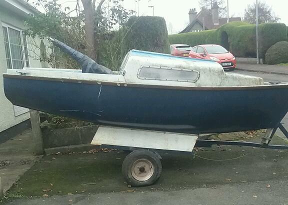 Boat projectin Banbridge, County DownGumtree - Boat project for sale 14 foot long needs alot of tlc and special tow bar as you can see in the pictures comes with masts ,condition unknown Im selling boat as it was my fathers project and he no longer with us so quick sale £100
