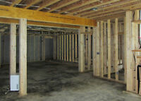 framing and acustic ceiling