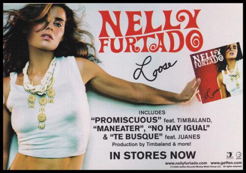 Nelly Furtado print ad 2006 for album Loose
