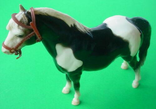 Vintage Breyer Molding Co USA Glossy Black White Shetland Horse Pony Bridle Head