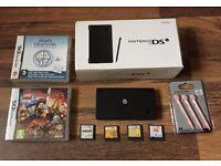 Nintendo DSi console + 6 games +Original Box Christmas Present