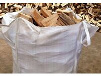 seasoned hardwood logs firewood wood burning stove fuel