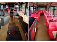 Training bus hire (Laptops, Kitchenette, Wiifi and Driver)
