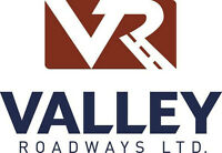 Valley Roadway is expanding and requires Skilled Class1 drivers