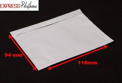 A7 (118mmx94mm) UNPRINTED DOCUMENT ENCLOSED S/A POSTAL POUCHES (BOX OF 1000)