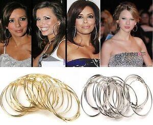 Gold/Silver Hoop Earrings Jewelry---NEW!!!