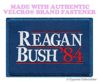 REAGAN BUSH 84 MORALE PATCH USA VOTE REPUBLICAN RONALD w/ VELCRO® Brand Fastener