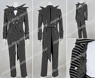 Nightmare Before Christmas costume Jack Skellington Cosplay Kostüme Gestreift (Jack Skellington Kostüme)