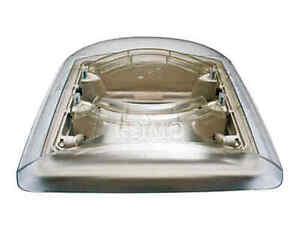 Dachhaube Vision Vent S eco - 28 x 28 cm - Rahmen weiß - Glas rauch / MPK