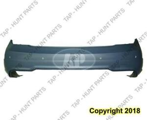 Bumper Rear Primed With Sensor With Sport Package Coupe/Sedan Mercedes C-Class 2012-2014