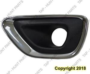 Fog Lamp Bezel Front Driver Side Black With Chrome Moulding Ltd/Laredo/Overl Jeep Grand Cherokee 2014-2016