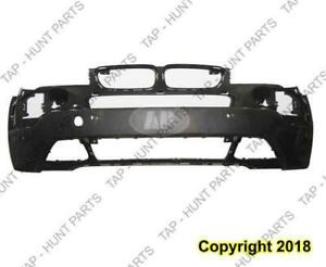 Bumper Front With Sensor Hole Primed CAPA BMW X3 2007-2010