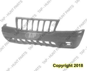 Bumper Front Black Ltd With Fog Lamp Hole Jeep Grand Cherokee 1999-2000