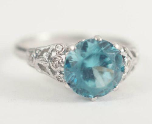 Antique Blue Diamond Ring Ebay