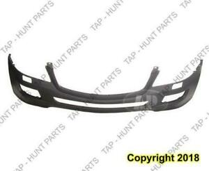 Bumper Front Primed Without Sensor With Head Light Washer Hole Without Sport Package Mercedes M-Class 2006-2008