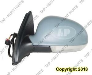 Door Mirror Power Driver Side Heated With Signal Volkswagen Jetta 2005-2010