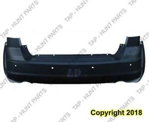Bumper Rear Primed Black One Piece With Sensor Hole With Dual Exhaust (Rt Model) Dodge Journey 2011-2016