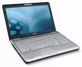 """Toshiba SATELITE C2D - 250GB HDD 4GB RAM Windows 7 Pro 17"""" Laptop"""