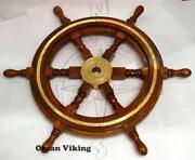 Boat Steering Wheel Wood