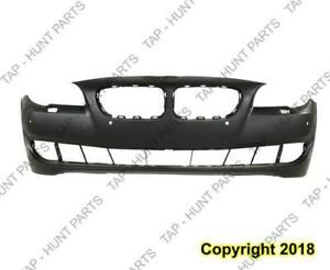 Bumper Front With Sensor/S/Cam Hole Primed Sedan Without M Package CAPA BMW 5-Series 2011-2013
