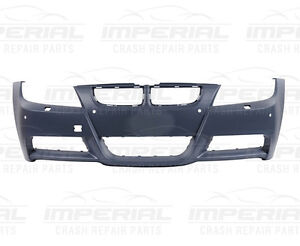 BMW E90 3 SERIES Front Bumper With Wash Jet Holes/With Sensor Holes/M Sport Mode