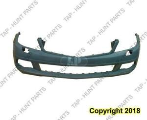 Bumper Front Primed Without Sensor With Headlight Washer Without Amg Sport Package Mercedes C-Class 2008-2011