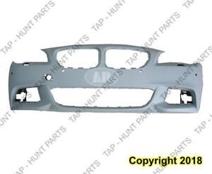 Bumper Front With Sensor Hole Without S/Cam Hole With M Package Primed CAPA BMW 5-Series 2011-2013