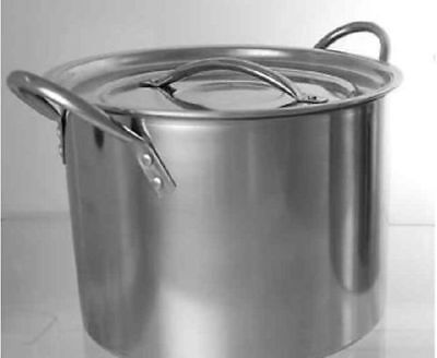 Large Deep Stainless Steel Cooking Stock Pot Induction Base & Casserole 8 Litres