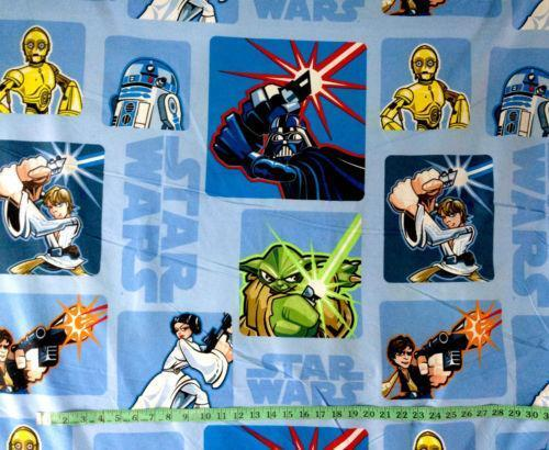 Star wars fabric ebay for Retro space fabric uk
