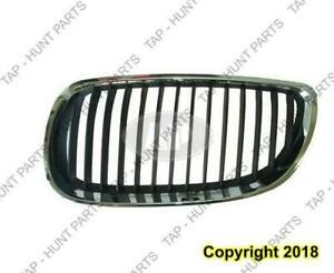 Grille Driver Side Chrome/Black Coupe/Convertible BMW 3-Series 2008-2010