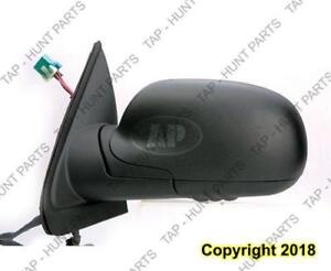 Door Mirror Power Driver Side Heated Without Signal Manual Folding Black Standard Chevrolet Trailblazer 2004-2009