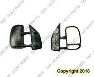 Door Mirror Manual Driver Side Textured (Telescope Type) Ford Econoline 2003-2007