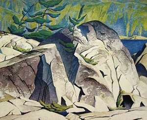 """A.J. Casson """"Rock Cluster"""" Lithograph - Appraised at $1000"""