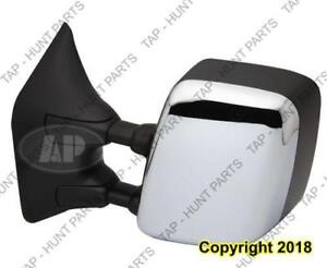 Door Mirror Power Driver Side Heated Memory Chrome With Big Tow Nissan Titan 2004-2012