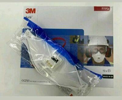 10er Pack 3M™ Aura™ Atemschutzmaske 9332+ FFP3 Ventil Mundschutz Maske Staub