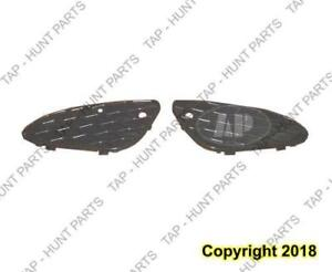 Grille Lower Outer Driver Side Without Sport Matt-Black Mercedes E-Class 2003-2009