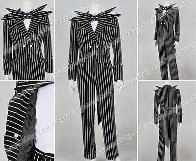 istmas Jack Cosplay Kostüme Schwarz Gestreift costume  (Nightmare Before Christmas Kostüm)
