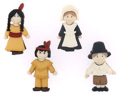 Jesse James Buttons - Dress It Up~ Pilgrims and Indians 7593 ~ Thanksgiving - Pilgrim Crafts