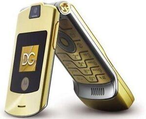 Original Motorola RAZR V3i D&G 2G Flip GSM Unlocked Mobile Phone Gold Worldwide