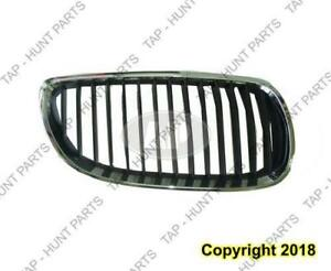 Grille Passenger Side Chrome/Black Coupe/Convertible BMW 3-Series 2008-2010